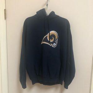 NFL Tops - NFL Rams Large hoodie navy blue